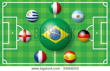 Flags of the World Cup team