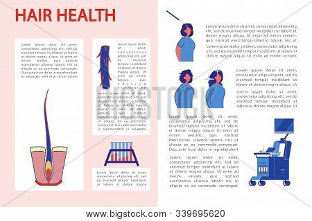 Information Banner How To Maintain Hair Health. Description Structure Hair, How It Is Taken And Exam