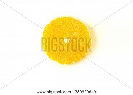 Sliced Orange Isolated On A White Background