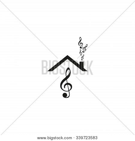 Musical Note Icon, Music Icon With Not Allowed Sign. Musical Note Icon And Block, Forbidden, Prohibi