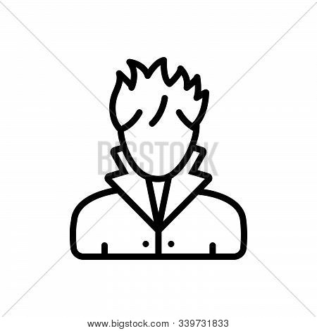 Black Line Icon For Hair Stylist Barber Hairdressing