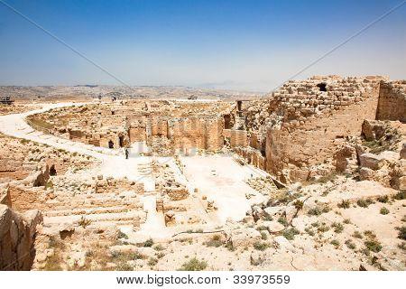Herodion temple castle in Judea desert, Palestine, Israel poster