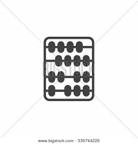 Arithmetic Abacus Vector Icon. Filled Flat Sign For Mobile Concept And Web Design. Abacus Calculatio