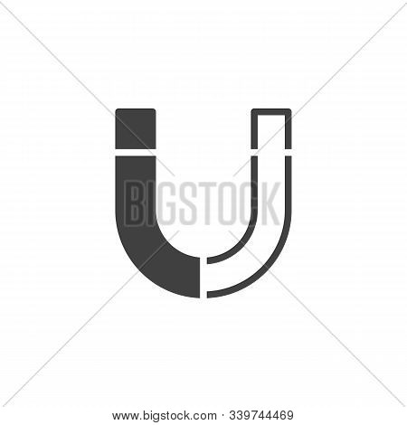 Magnet Vector Icon. Filled Flat Sign For Mobile Concept And Web Design. Magnetic Pole Glyph Icon. Gr