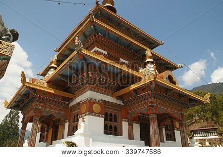 Khamsum Yulley Namgyal Chortenm, Punakha District In Bhutan