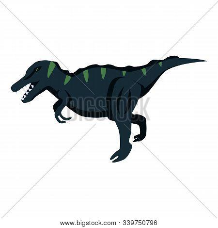 Predator Dino Icon. Isometric Of Predator Dino Vector Icon For Web Design Isolated On White Backgrou