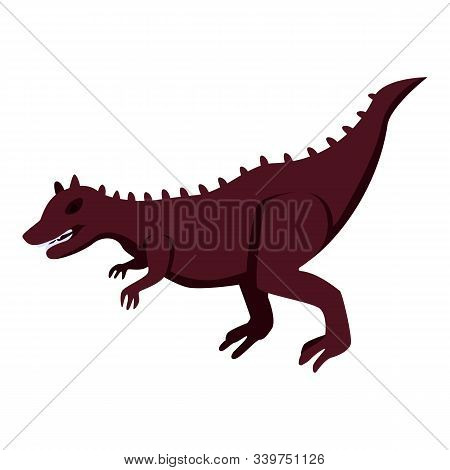 Toy Dinosaur Icon. Isometric Of Toy Dinosaur Vector Icon For Web Design Isolated On White Background