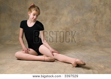Teenage Girl Preparing For Ballet