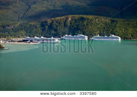 Cruise Ships Docking At Skagway, Alaska