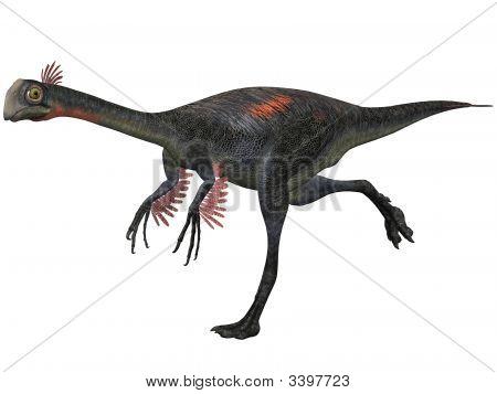 3 D Render of an Gigantoraptor erlianensis-3D Dinosaur poster