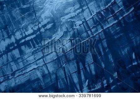 Abstract Background In Classic Blue Colour. Color Of The Year 2020.