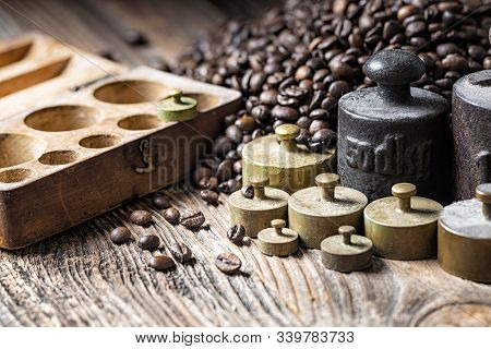 Metal Weights With Coffee Beans