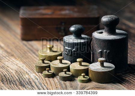 Old Rustic Metal Weights