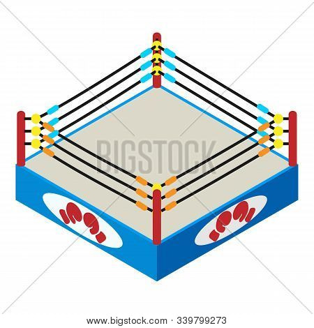 Boxing Arena Icon. Isometric Of Boxing Arena Vector Icon For Web Design Isolated On White Background