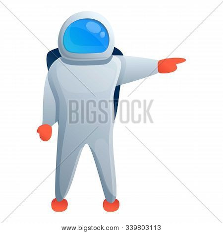 Space Astronaut Icon. Cartoon Of Space Astronaut Vector Icon For Web Design Isolated On White Backgr