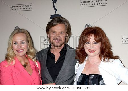 LOS ANGELES - JUN 14:  Genie Francis, Stephen Nichols, Suzanne Rogers arrives at the ATAS Daytime Emmy Awards Nominees Reception at SLS Hotel At Beverly Hills on June 14, 2012 in Los Angeles, CA