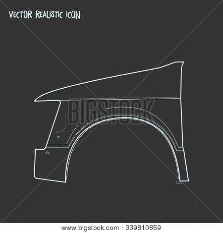 Fenders Icon Line Element. Vector Illustration Of Fenders Icon Line Isolated On Clean Background For
