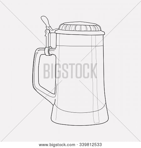 Beer Steins Icon Line Element. Vector Illustration Of Beer Steins Icon Line Isolated On Clean Backgr