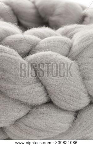 Merino Wool Isolated On White Background. Modern Lifestyle.