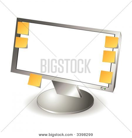 Lcd Monitor And Notes