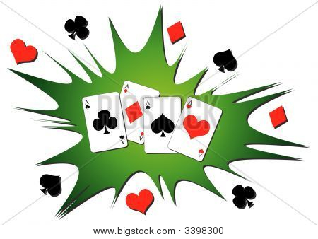 Playing Cards Splash