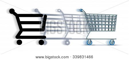 Online To Offline Commerce Shopping Or Internet Commerce Change And Transition To Buying Purchasing