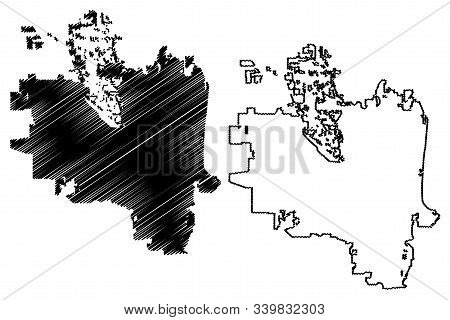 Eugene City (united States Cities, United States Of America, Usa City) Map Vector Illustration, Scri