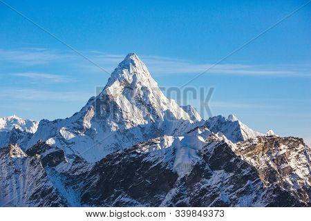 Ama Bablam Mountain View From Kala Patar Mount. Nepal, Sagarmatha National Park