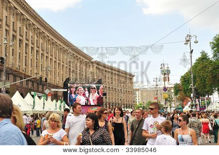 Euro2012 View At Part Of Official Fan Zone On Krestchatick  Ph1