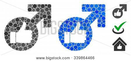 Excellent Erection Symbol Composition Of Spheric Dots In Variable Sizes And Color Tinges, Based On E