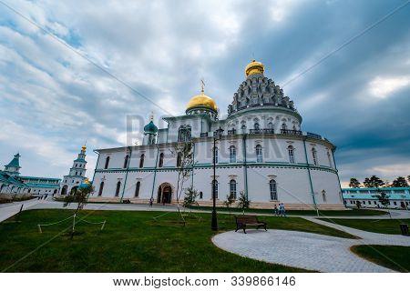 New Jerusalem, Istra, Russia - September 4, 2019: Gate Church Of The Lords Entrance Into Jerusalem.
