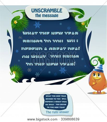 Unscramble The Message New Year