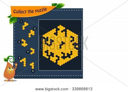 Collect The Puzzle Honeycombs