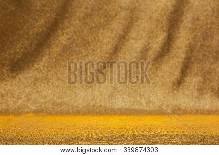 Abstract Blurred Gold Sparkle Background. Festive Mood, Luxury Party, Holidays, Christmas. Place For
