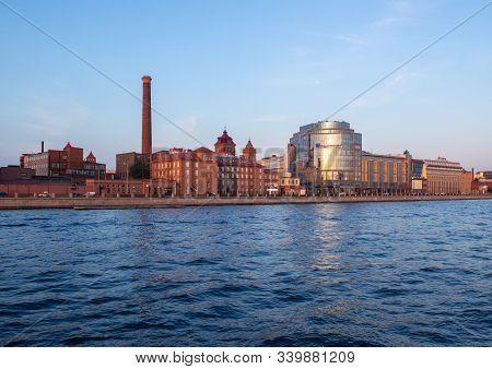 Sankt Petersburg, Russia - July 27, 2019: The Building Of The Ludwig Nobel Factory In St. Petersburg