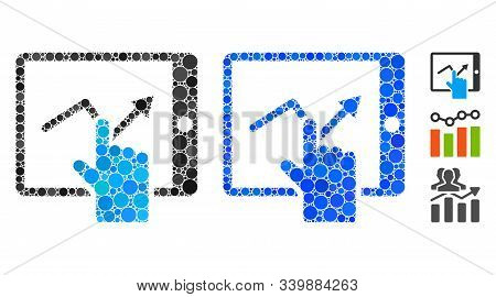 Tap Trend On Pda Composition Of Round Dots In Various Sizes And Color Tints, Based On Tap Trend On P