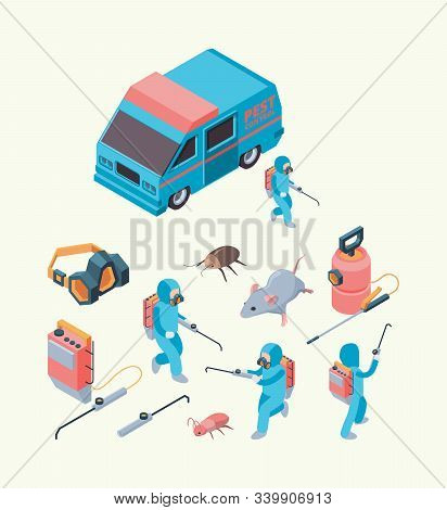 Pest Examination. Insects Dezinfection Service Chemical Poison For Pest Control Rodents Exterminatio
