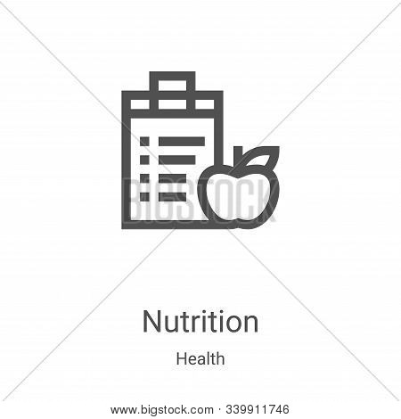 nutrition icon isolated on white background from health collection. nutrition icon trendy and modern