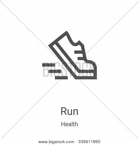 run icon isolated on white background from health collection. run icon trendy and modern run symbol
