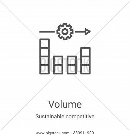 volume icon isolated on white background from sustainable competitive advantage collection. volume i