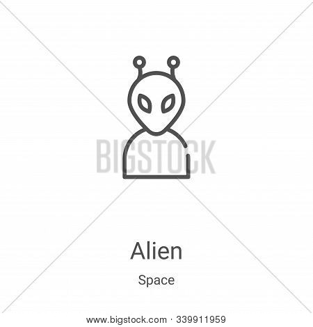 alien icon isolated on white background from space collection. alien icon trendy and modern alien sy