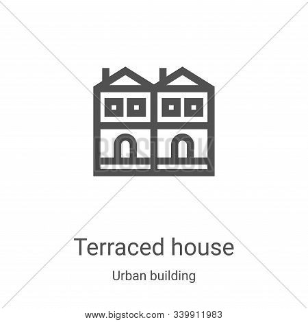 terraced house icon isolated on white background from urban building collection. terraced house icon