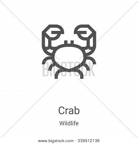 crab icon isolated on white background from wildlife collection. crab icon trendy and modern crab sy