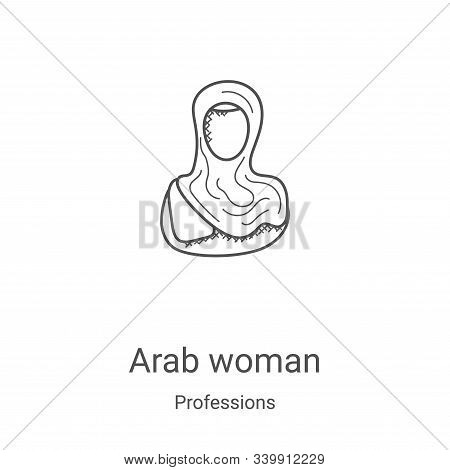 arab woman icon isolated on white background from professions collection. arab woman icon trendy and
