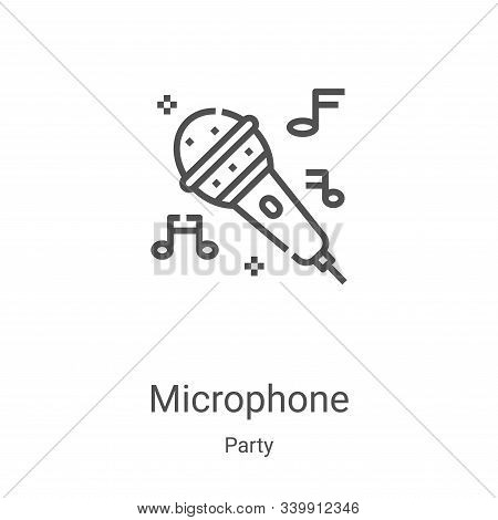 microphone icon isolated on white background from party collection. microphone icon trendy and moder