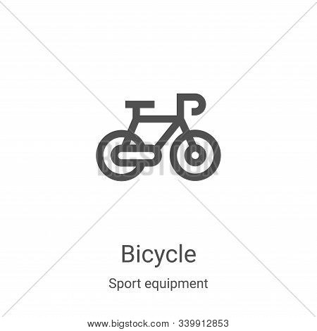 bicycle icon isolated on white background from sport equipment collection. bicycle icon trendy and m