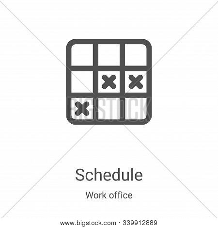 schedule icon isolated on white background from work office collection. schedule icon trendy and mod