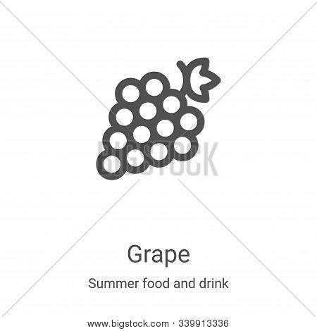 grape icon isolated on white background from summer food and drink collection. grape icon trendy and