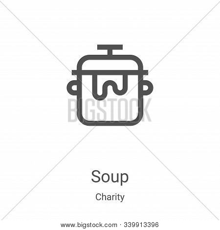soup icon isolated on white background from charity collection. soup icon trendy and modern soup sym