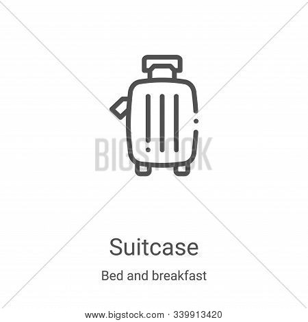 suitcase icon isolated on white background from bed and breakfast collection. suitcase icon trendy a